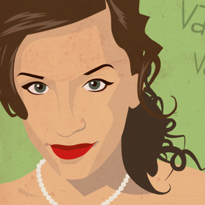 digitalized Vittoria's portrait