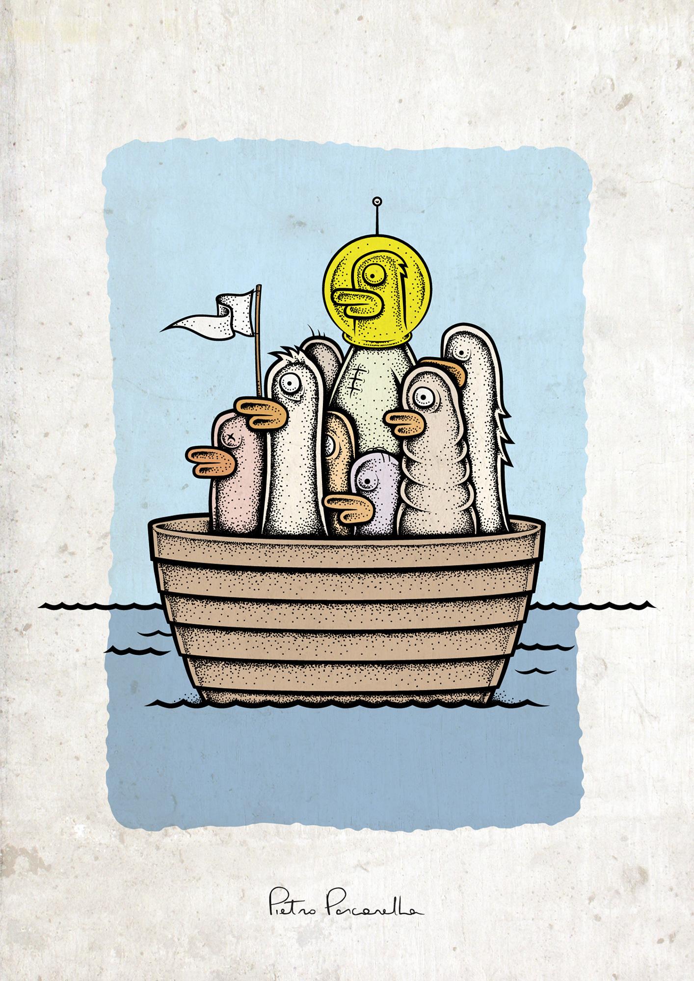Ducks in the Boat