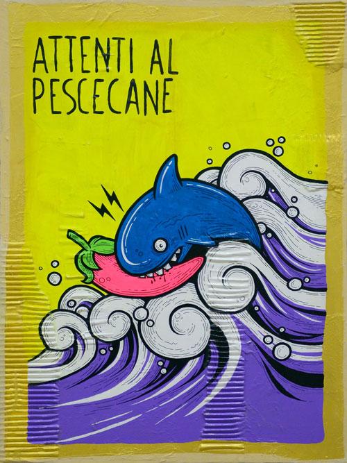 handmade Attenti al Pescecane!
